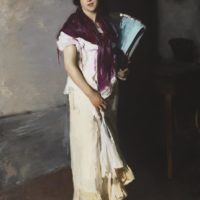 John Singer Sargent, A Venetian Woman, 1882, oil on canvas, Cincinnati Art Museum, The Edwin and Virginia Irwin Memorial, 1972.37